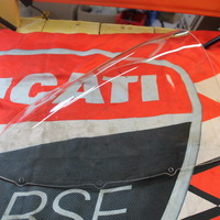Ducati Corse bulle double courbure pour 1198RS