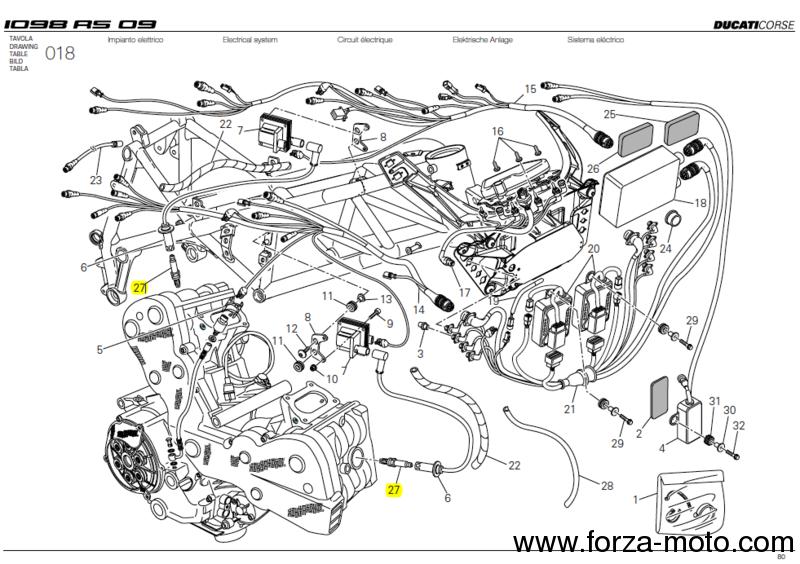 ducati corse factory spark plug ngk racing (67040221a) - ducati