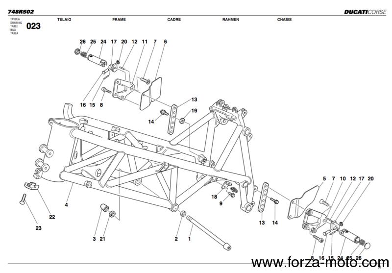 ducati corse footpegs rearset 748rs (nc) ducati corse spare part Husaberg Wiring Diagram ducati corse footpegs rearset 748rs 9