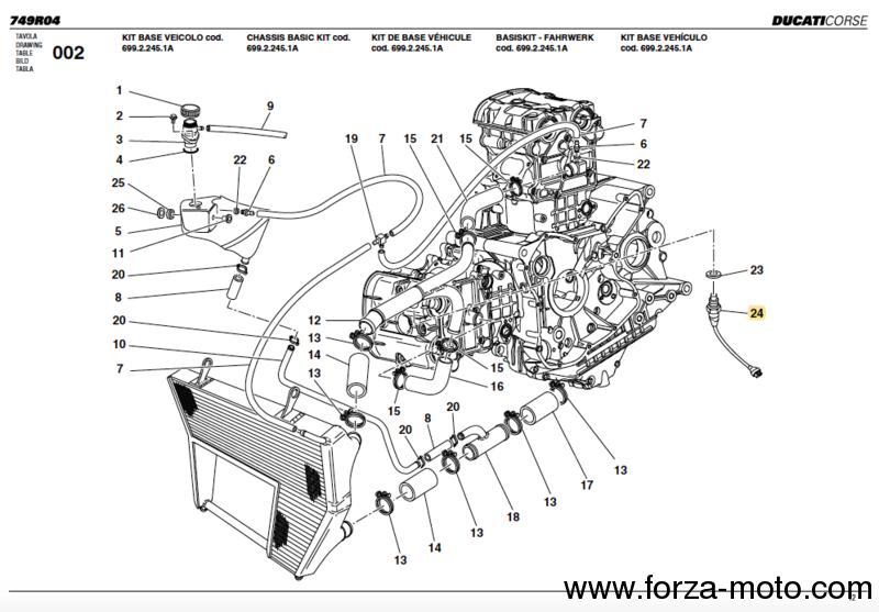 Ducati Corse Oil Water Sensor 55210132a
