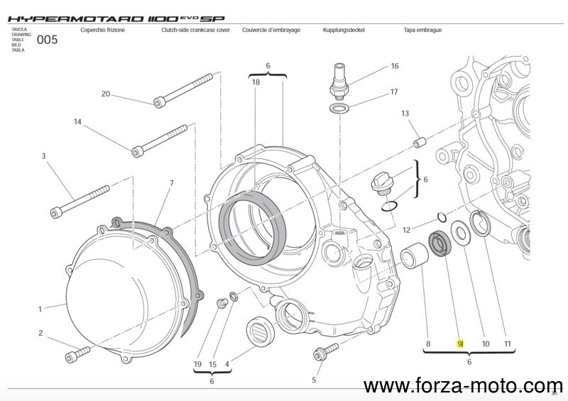 ducati seal ring for clutch case 93040211a ebay. Black Bedroom Furniture Sets. Home Design Ideas